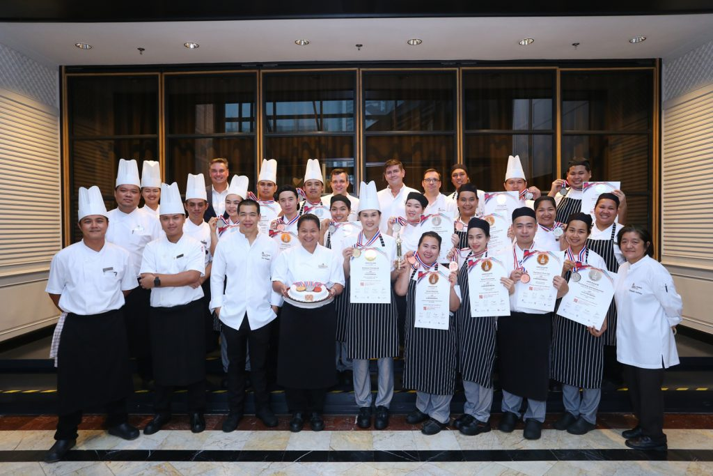 Bangkok Marriott Marquis Queen's Park rises to the top of hospitality industry with one gold, nine silver and five bronze medals from Thaifex 2019