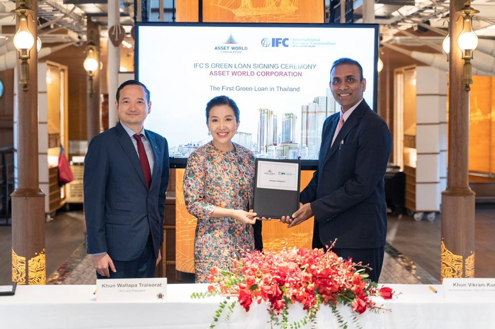 Asset World Corporation is Thailand's first real sector company to receive a green loan from The World Bank Group's IFC