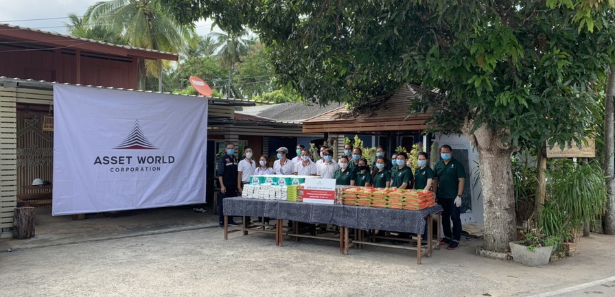 Asset World Foundation for charity answers critical need for Covid-19 support with survival bags to nong thale community in Krabi